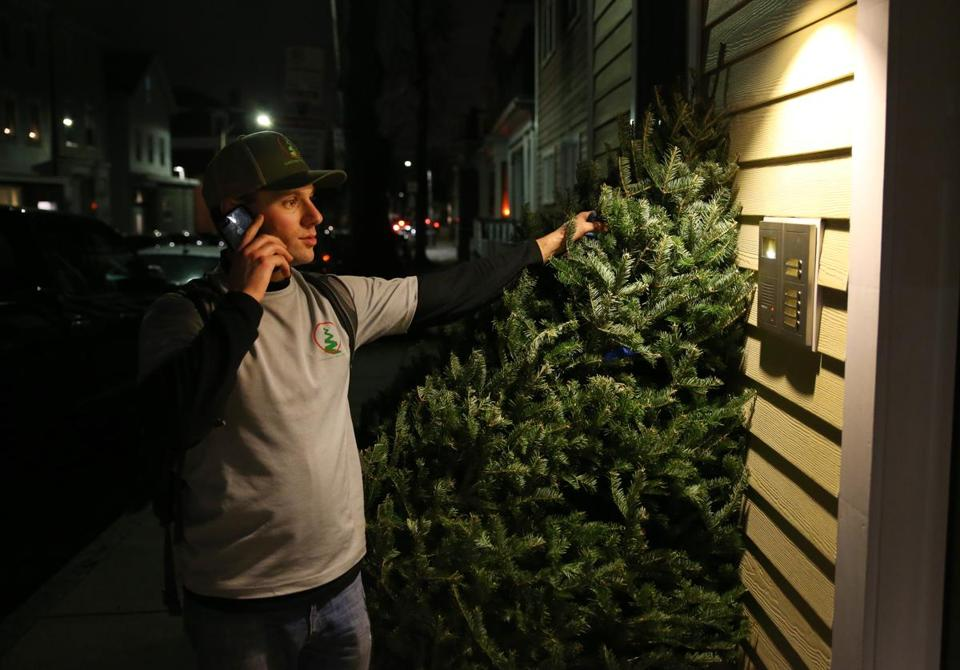 "Feccia called Meghan Ariagno about the tree. ""Home Depot didn't have the charm we were looking for,"" she said."
