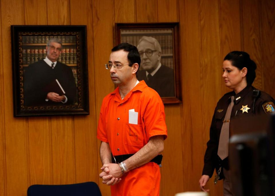 "Former USA Gymnastics team doctor Larry Nassar is the subject of the podcast ""Believed."""