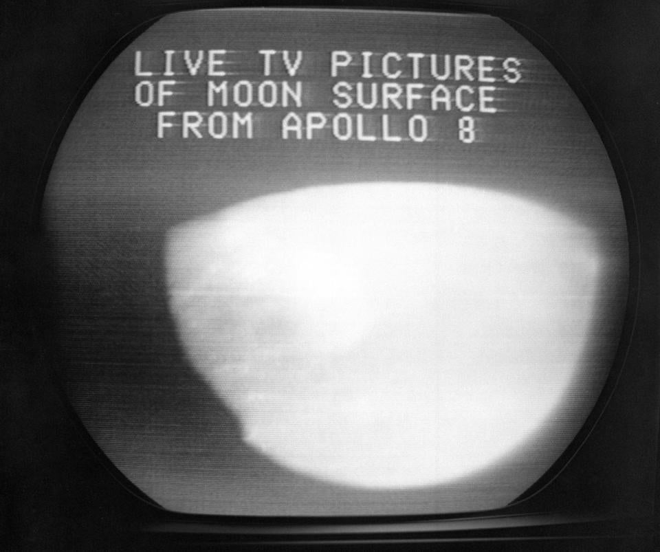 Shots of the moon seemed to be the main attraction during the mission in 1968, but it was the image of Earth suspended in space that ultimately had the most impact. — Photograph: File/Associated Press.