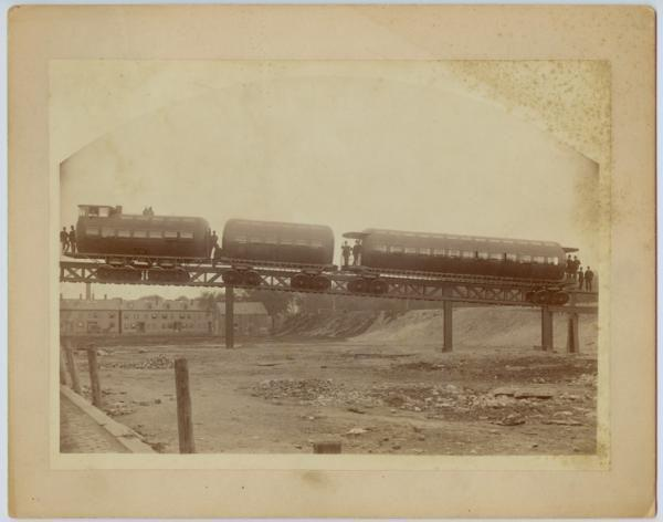 Images and Photographs of the Meigs Elevated Railway All images are in the public domain.