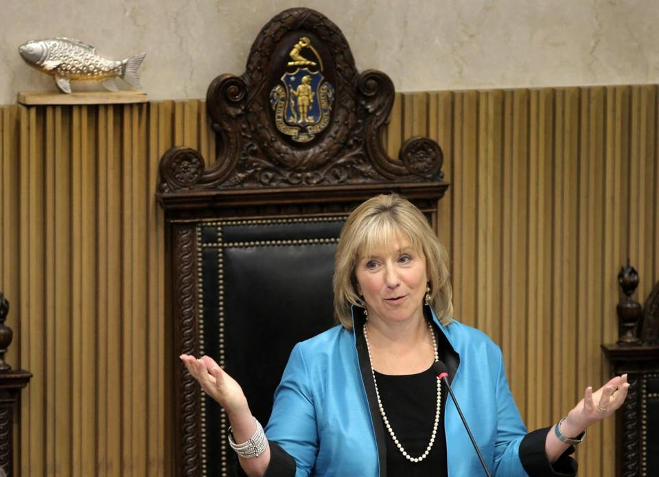 State Senate President Karen E. Spilka is among the leaders in the state Legislature who will see three pay increases in 2019.
