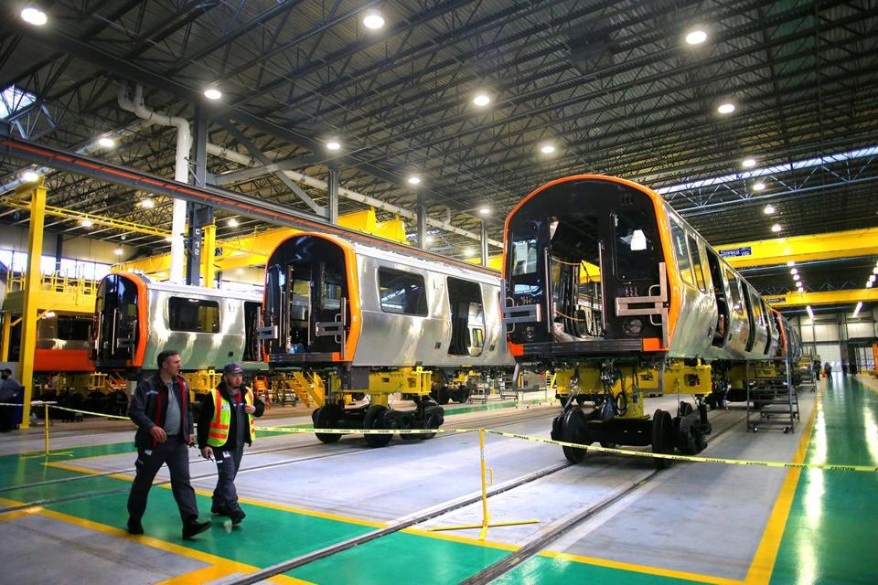 New Orange Line cars are set to enter service early in 2019.