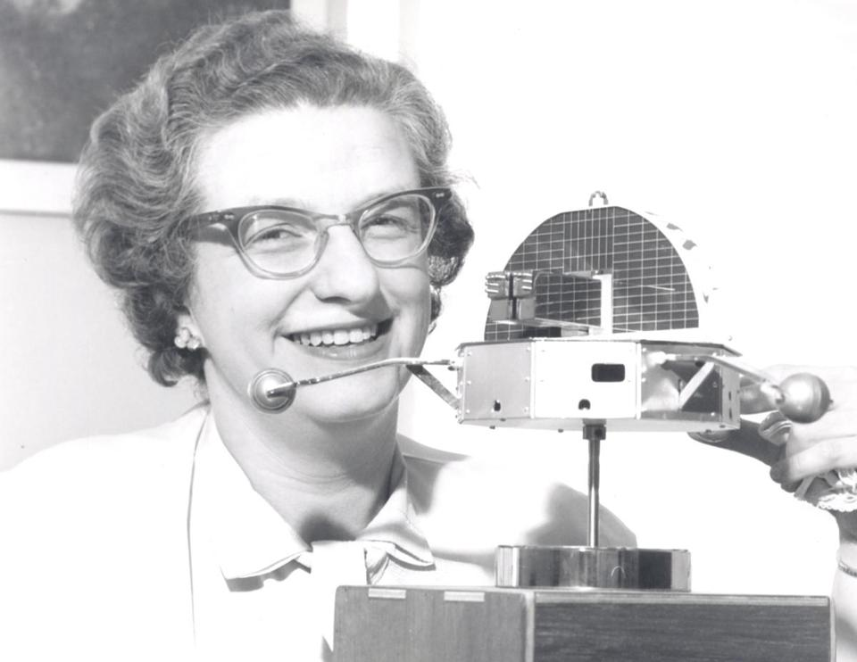 Dr. Roman showed a model of an orbiting solar observatory, years before Hubble was built.