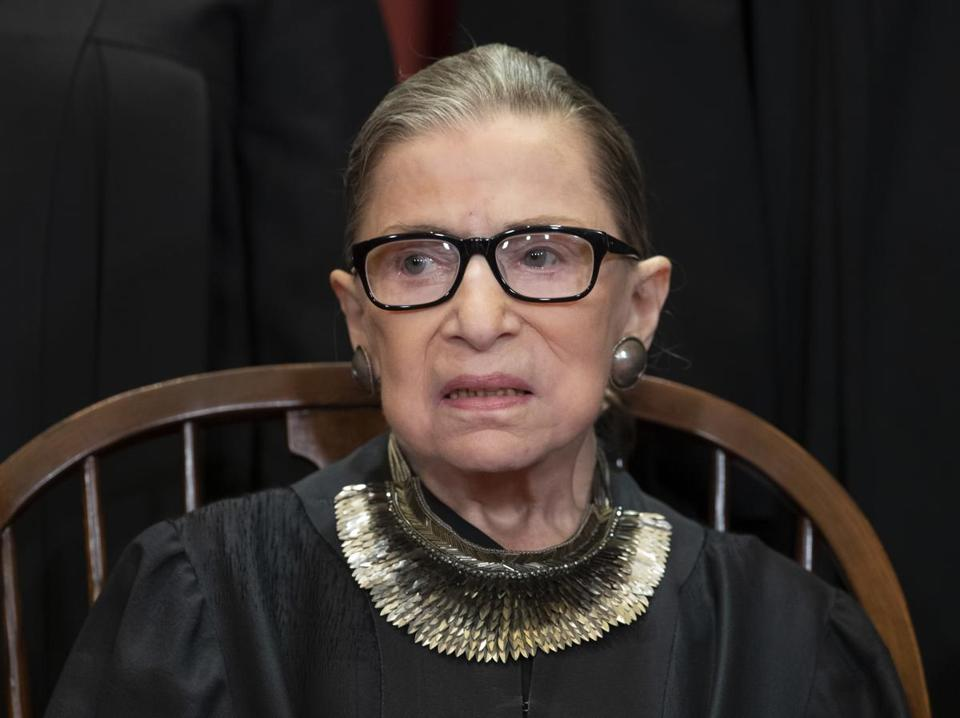 Associate Justice Ruth Bader Ginsburg in 2018.