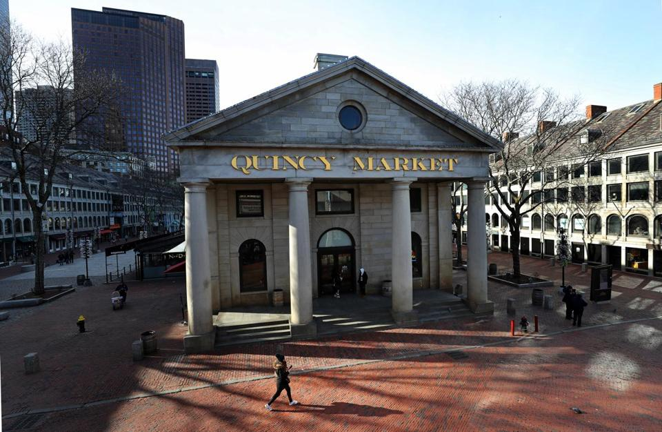 Faneuil Hall Marketplace caters primarily to tourists these days, but that wasn't the case when it opened in 1976.