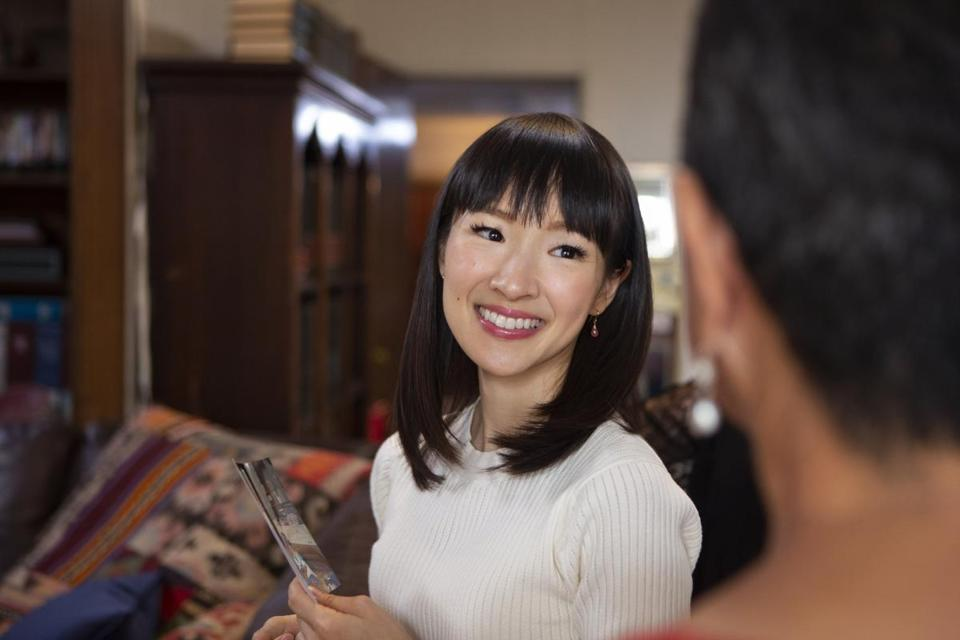 "Home organizer Marie Kondo stars in Netflix's new reality series, ""Tidying Up with Marie Kondo."""