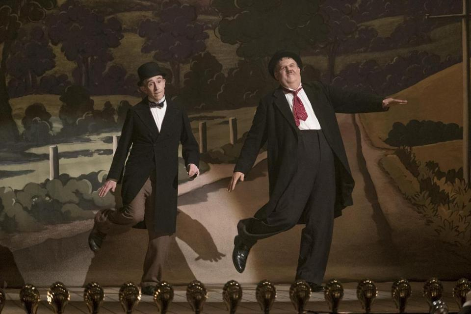 "Steve Coogan (left) and John C. Reilly in ""Stan & Ollie."""