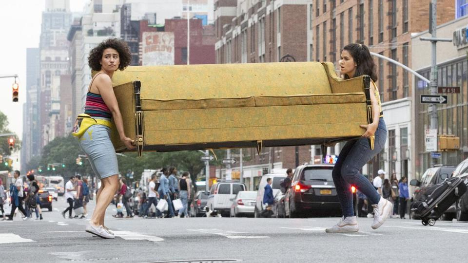 "Abbi Jacobson (left) and Ilana Glazer in ""Broad City."""