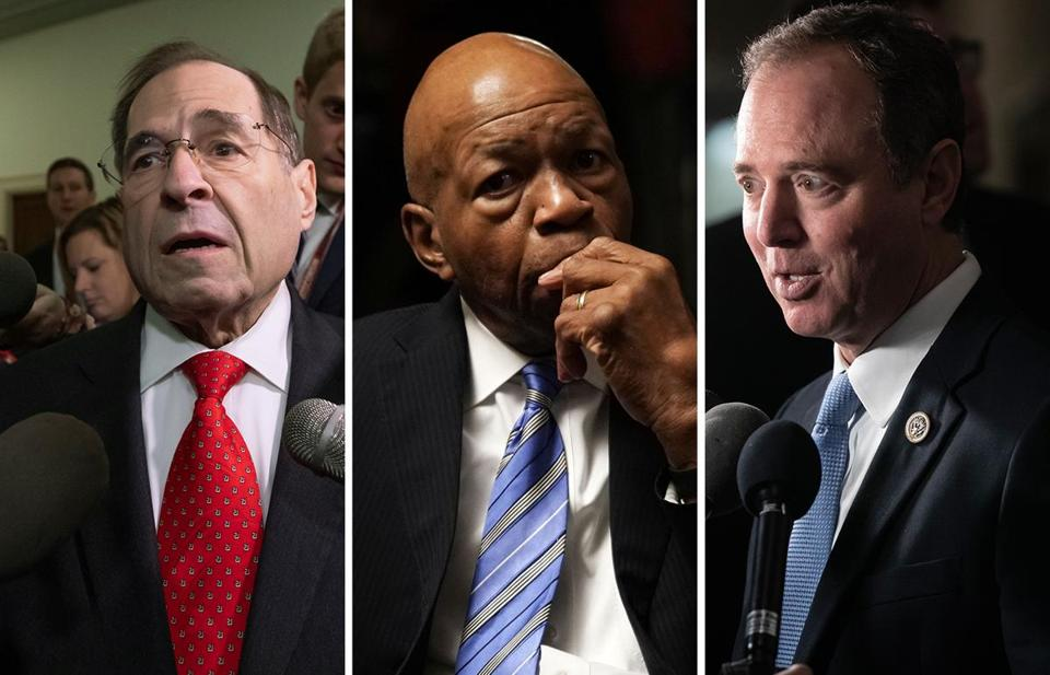 The Big Three — Jerrold Nadler on Judiciary, Elijah Cummings on Oversight and Adam Schiff on Intelligence — have spent the past two years of the Trump presidency hamstrung as Republican chairs investigated anything but the man in the Oval Office and his team.