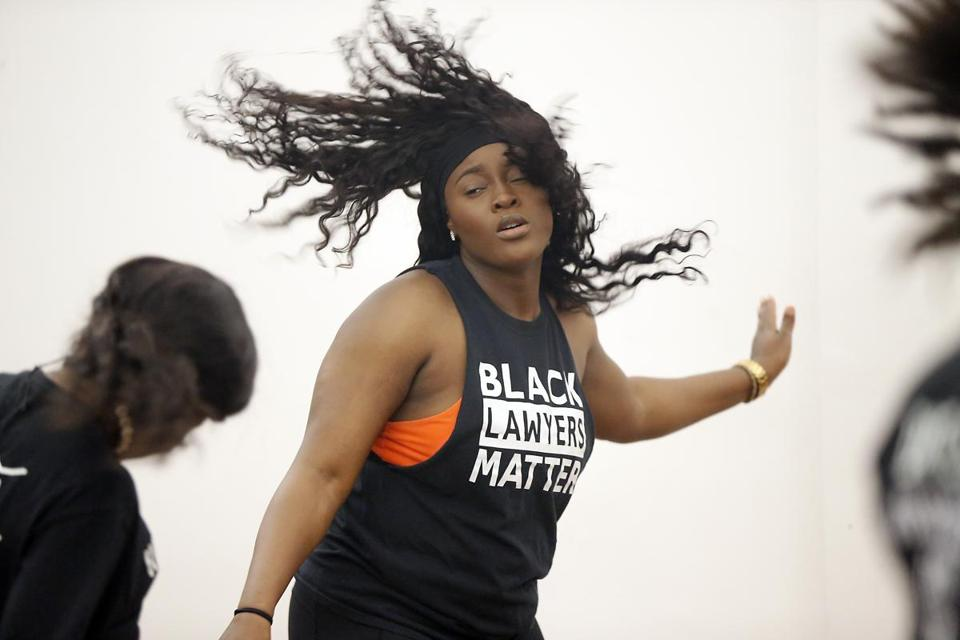 Dorchester MA 1/8/19 Isi Chikhamen during a AfroBeats Dance Boston class at the Alexander Magnolia Co-op. (photo by Matthew J. Lee/Globe staff) topic: reporter: