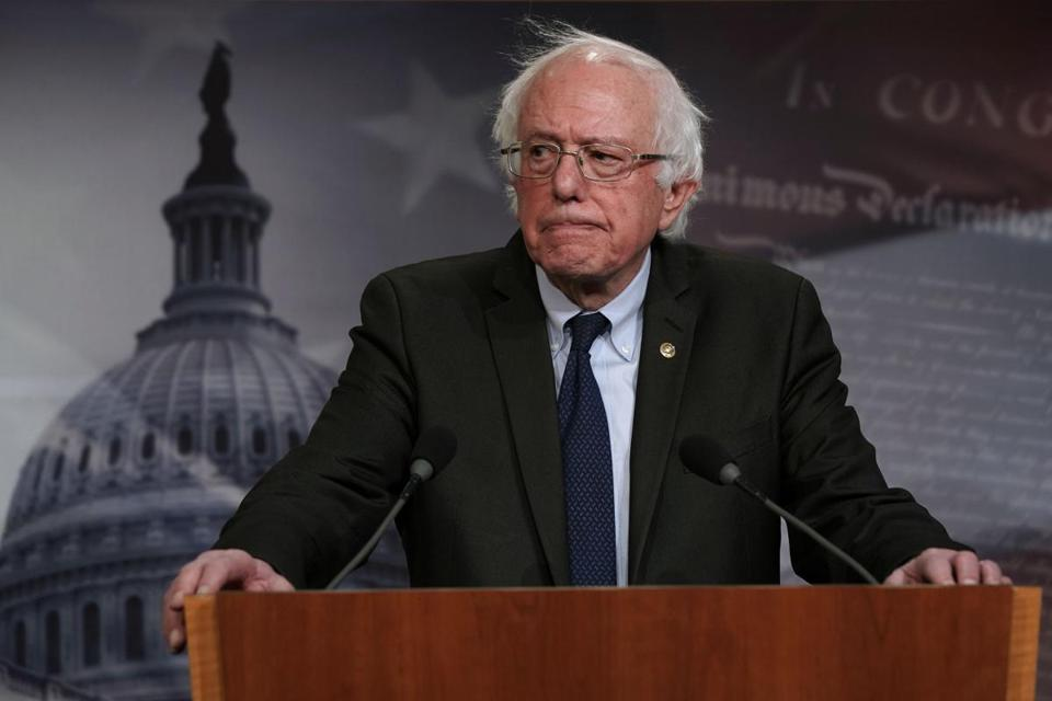 ''When we talk about ending sexism, and ending all forms of discrimination, those beliefs cannot just be words,'' Senator Bernie Sanders said.