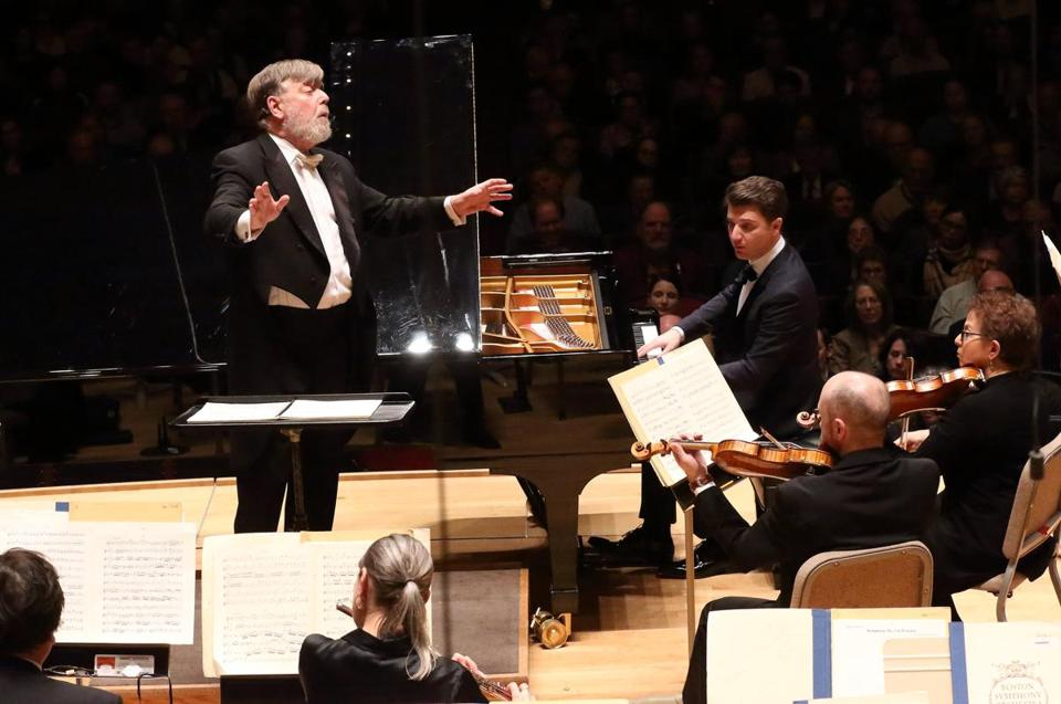 Pianist Alessio Bax joined Andrew Davis and the BSO for Mozart's Piano Concerto No. 24 on Thursday night.