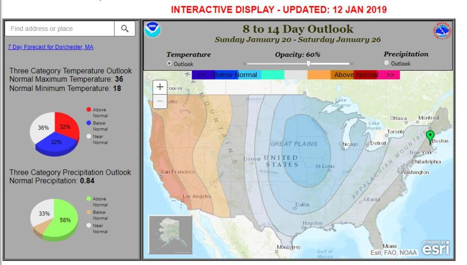 The outlook for the third week of January brings the coldest air into the middle of the country.