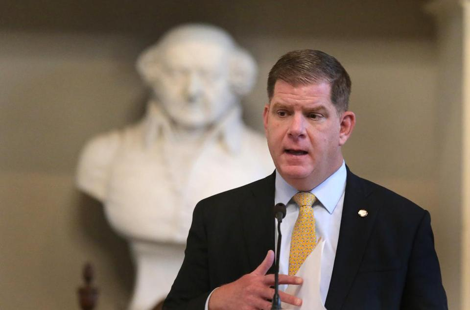 In the 2013 Boston mayoral race, now-Mayor Martin J. Walsh received nearly $329,000 through just 22 donations from labor unions. Under a proposed state rule change, those union donations would be severely limited in the future.