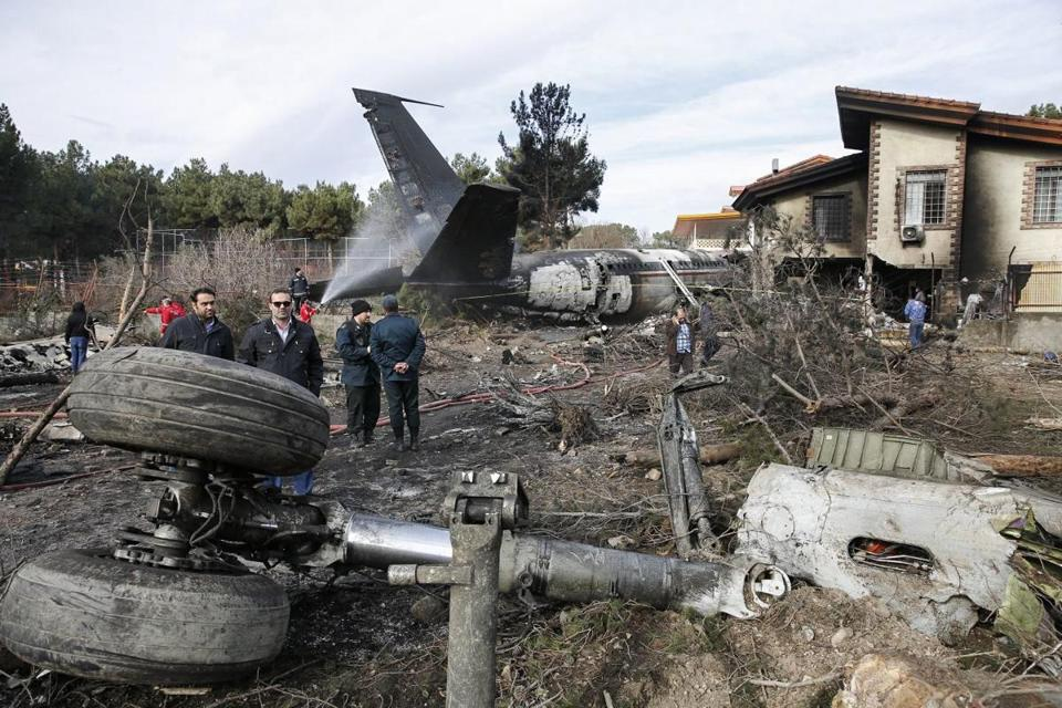 Cargo plane crashes in Iran, killing at least 15
