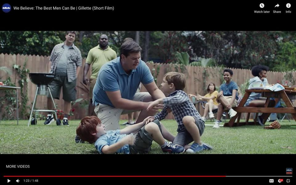 (CREDIT: Gillette) Razor-maker Gillette has put out a powerful new ad urging men to be an example for compassion and respect in the age of #MeToo — and it's sparking a backlash. 16Gillette BUSINESS 1-16-19