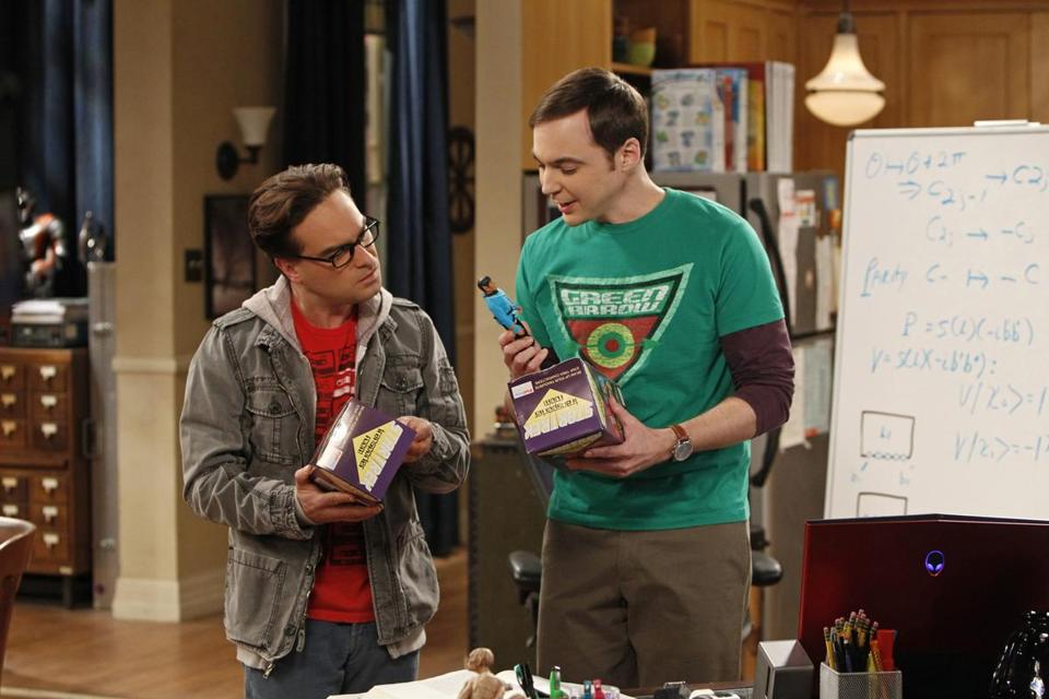 "Johnny Galecki (left) and Jim Parsons in ""The Big Bang Theory."""