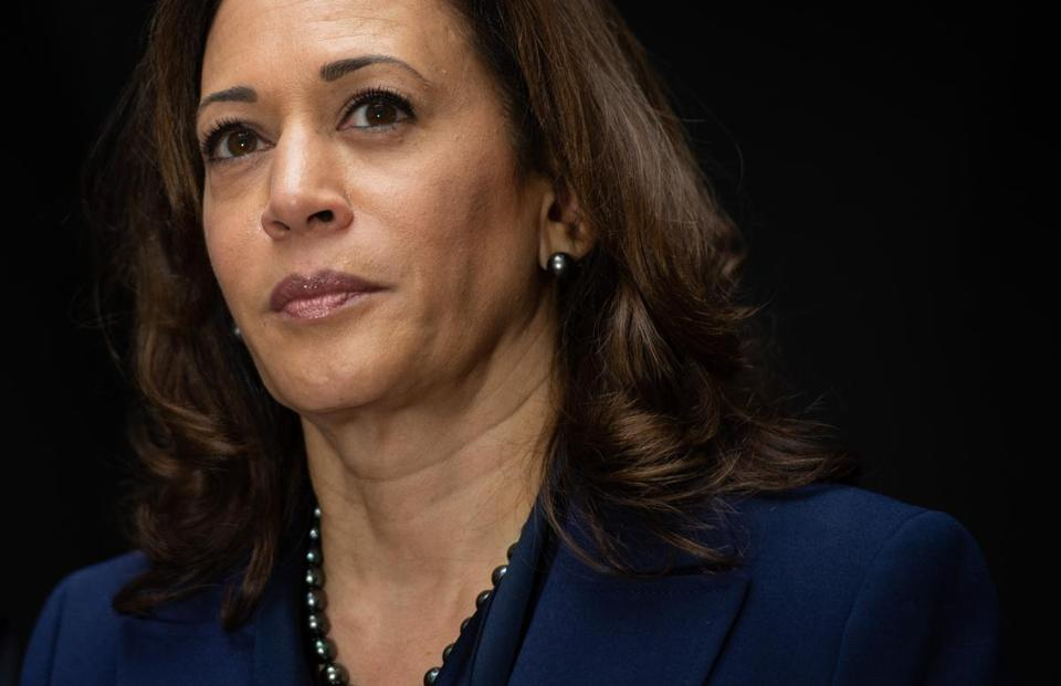Senator Kamala Harris of California has taken to a book tour to introduce herself to more voters.