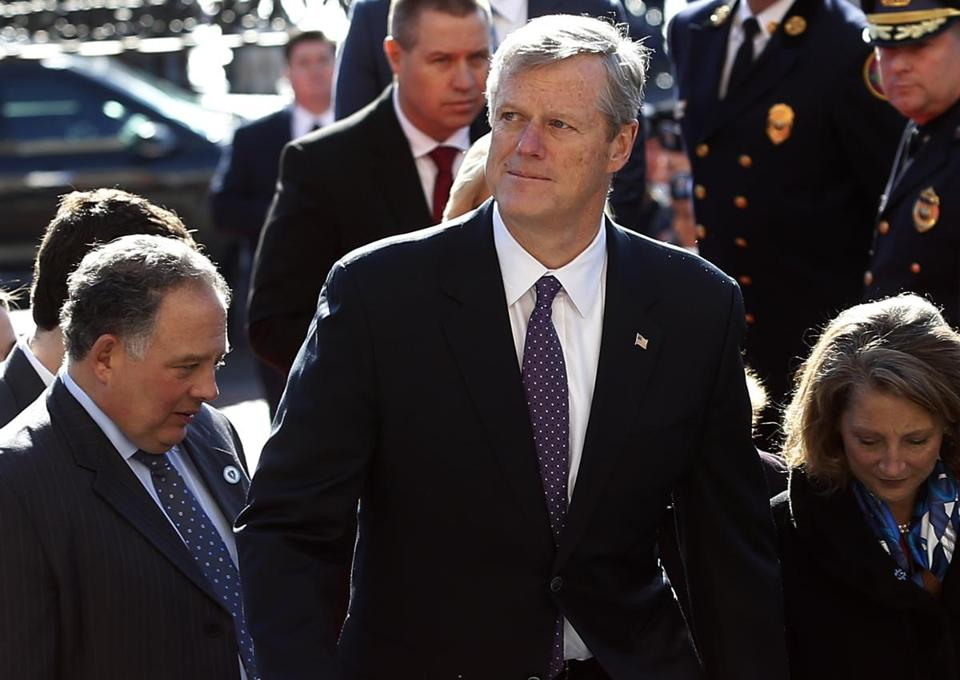 """There's a tremendous amount of momentum and enthusiasm about what's possible with respect to deep-water wind off the East Coast,"" Governor Charlie Baker said Wednesday."