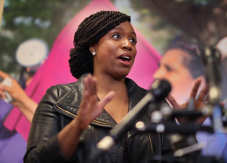 """This was a completely manufactured crisis,"" US Representative Ayanna Pressley told reporters after meeting in downtown Boston with 18 federal workers affected by the shutdown."