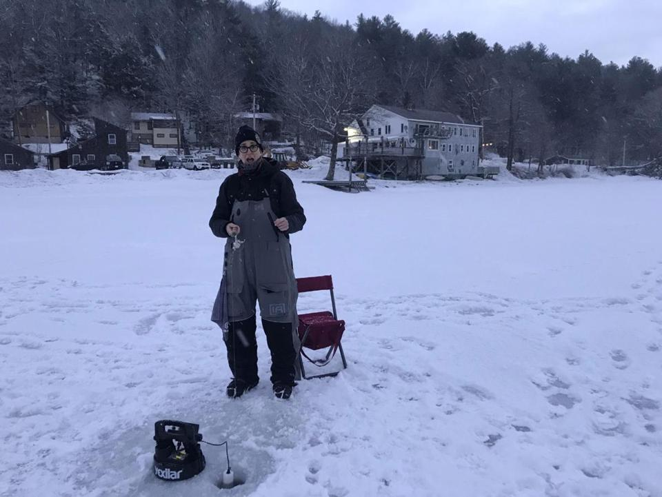 29namesMaddow -- Rachel Maddow ice fishing in Western Massachusetts. (Rachel Maddow/Twitter) *Names recieved permission from Maddow's rep at MSNBC*