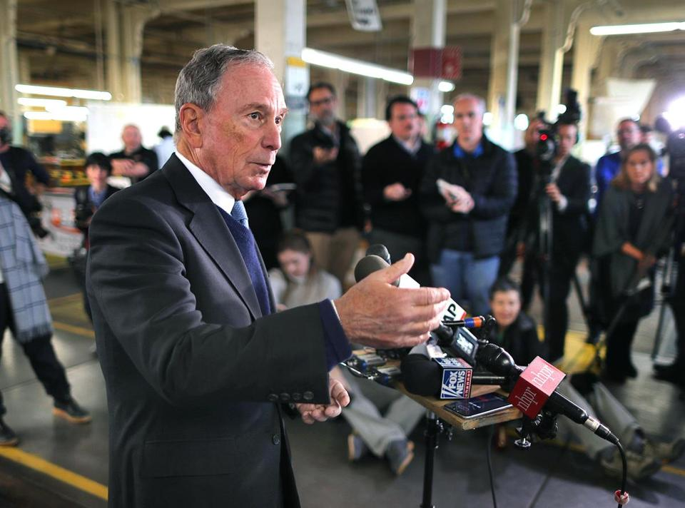 Michael Bloomberg, the former New York City mayor, visited New Hampshire Tuesday.