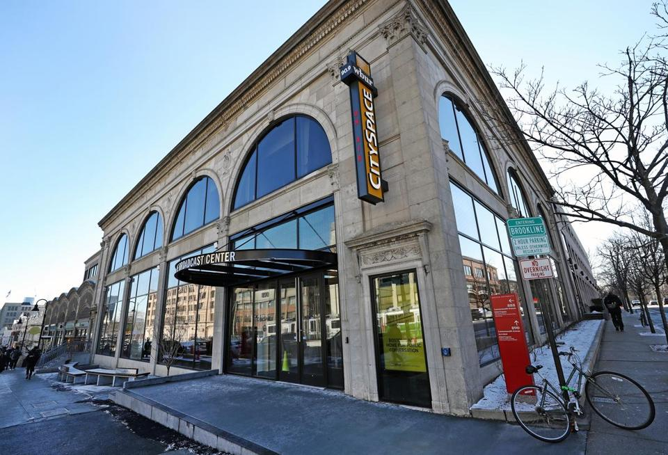 Wbur unveils new space for the city the boston globe - Boston interiors clearance center ...