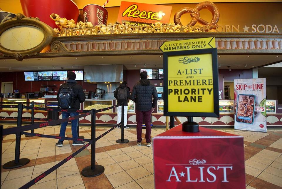 At the AMC Boston Common 19, VIP customers get access to a separate, ostensibly shorter, line for concessions.