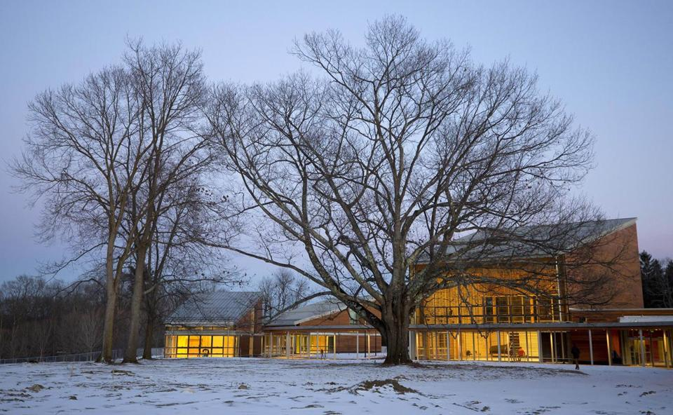 Located on a ridge overlooking Ozawa Hall Lawn and Berkshire Hills vistas, Tanglewood's new Linde Center for Music and Learning, designed by William Rawn Associates Architects and opening June 2019, gathers around a 100-foot tall Red Oak, with a serpentine covered walkway connecting the four buildings and framing both views and paths. The Linde Center is home to the new Tanglewood Learning Institute, also launching in summer 2019.