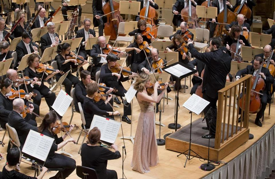 Violinist Lisa Batiashvili joined Andris Nelsons and the BSO for Karol Szymanowski's Violin Concerto during Thursday's program.