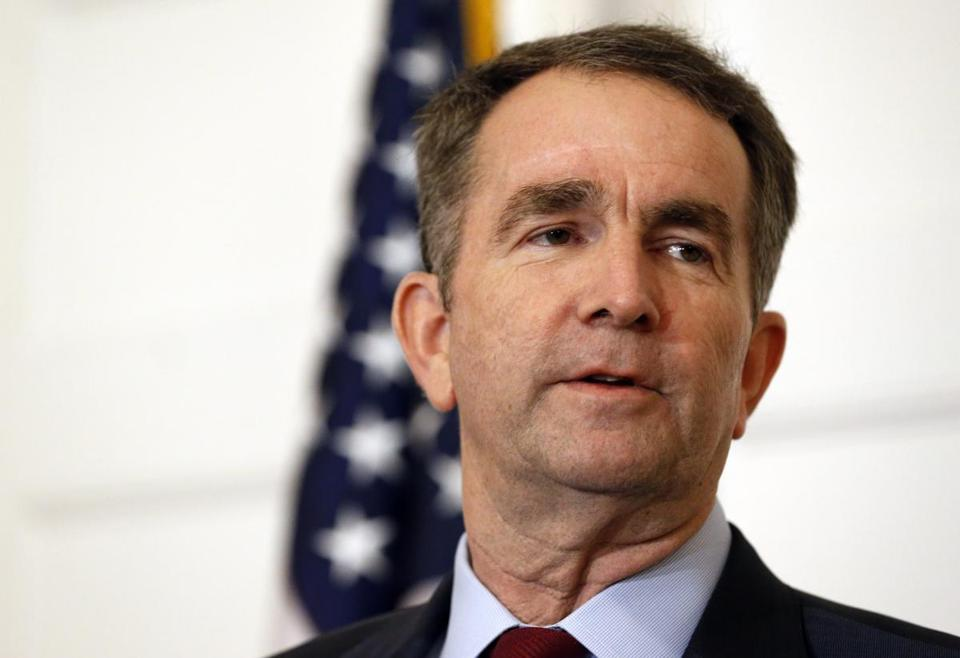 Governor Ralph Northam, who is a year into his four-year term, announced his intention to stay during an afternoon Cabinet meeting.