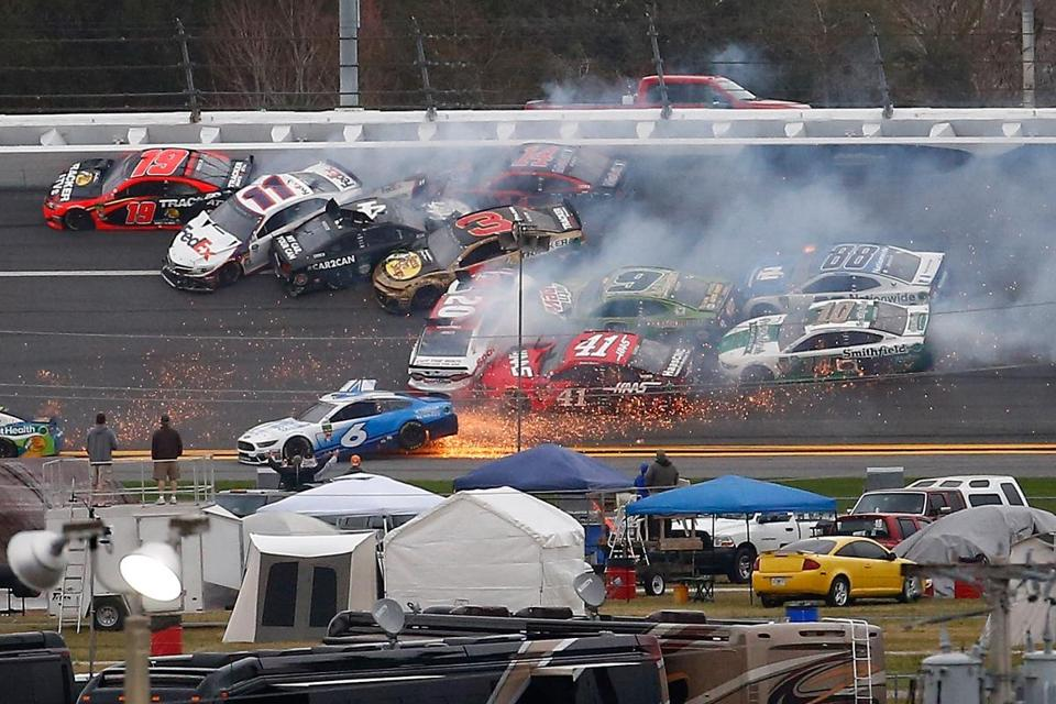 Jimmie Johnson triggers wreck, then wins Clash at Daytona ...