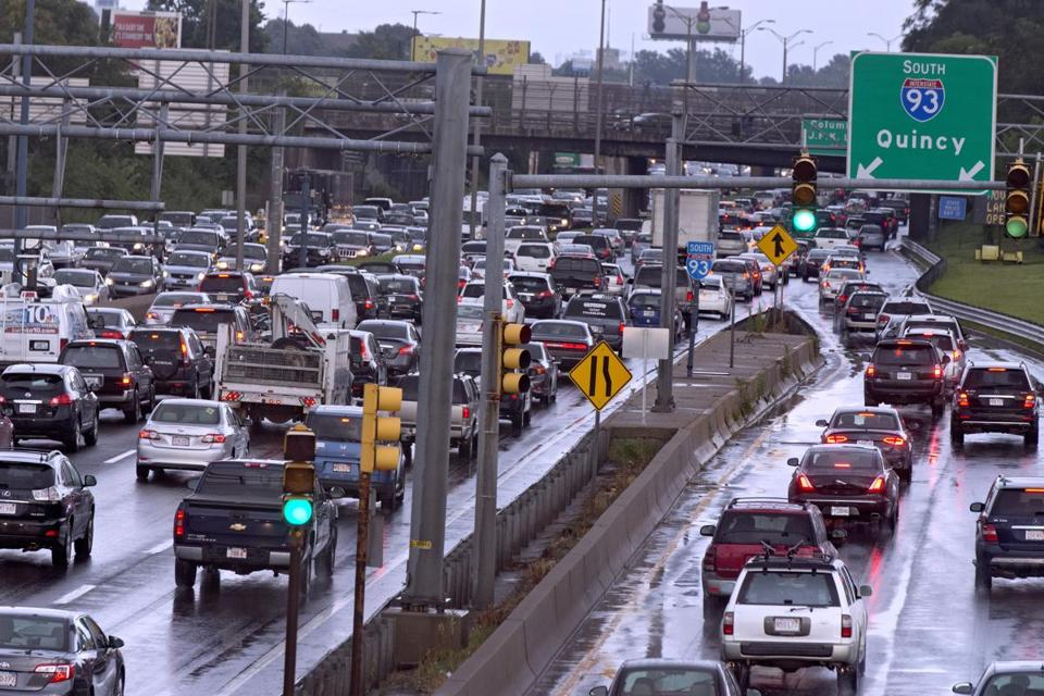 Boston Ma 8 09 2017 The Heavy Evening Rush Hour Traffic From