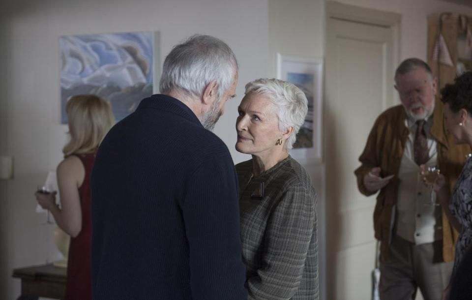 "Glenn Close as Joan and Jonathan Pryce as Joe in the 2018 film ""The Wife,"" directed by Bjorn Runge. Photo by Graeme Hunter, Courtesy of Sony Pictures Classics."