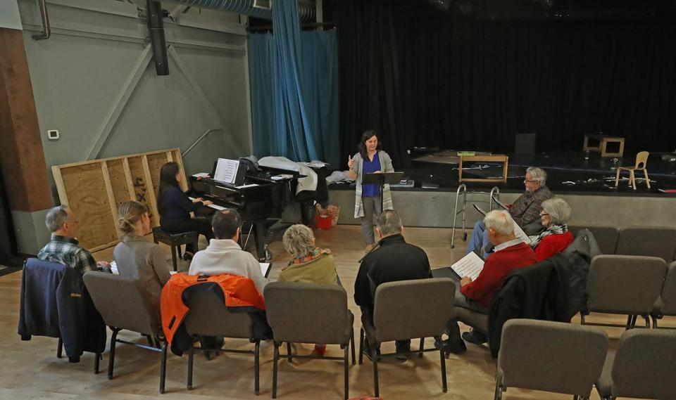 Amanda Reopell (above) directs the chorus at Laura's Center for the Arts on the YMCA's Emilson campus in Hanover.