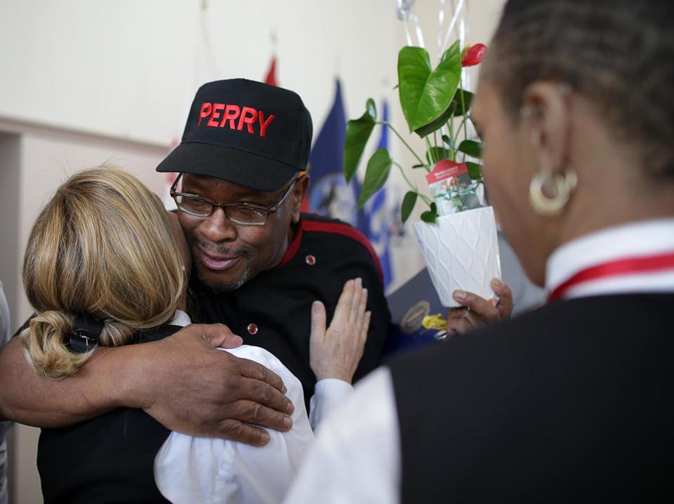 Kenneth Perry was recognized during the African American Veteran Appreciation Brunch in Roxbury.
