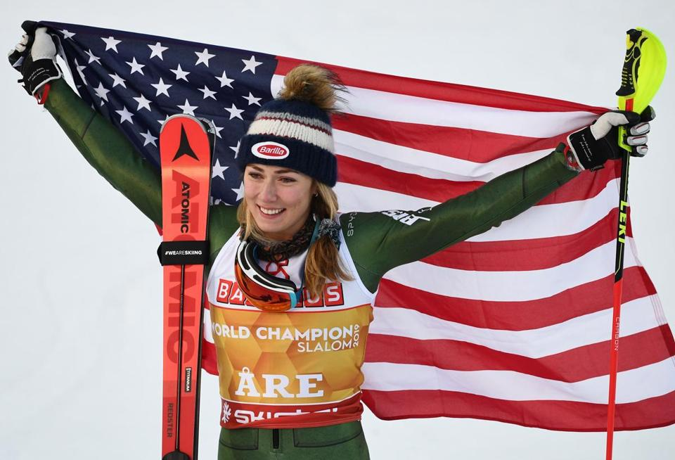 Ailing Mikaela Shiffrin wins slalom at world championships