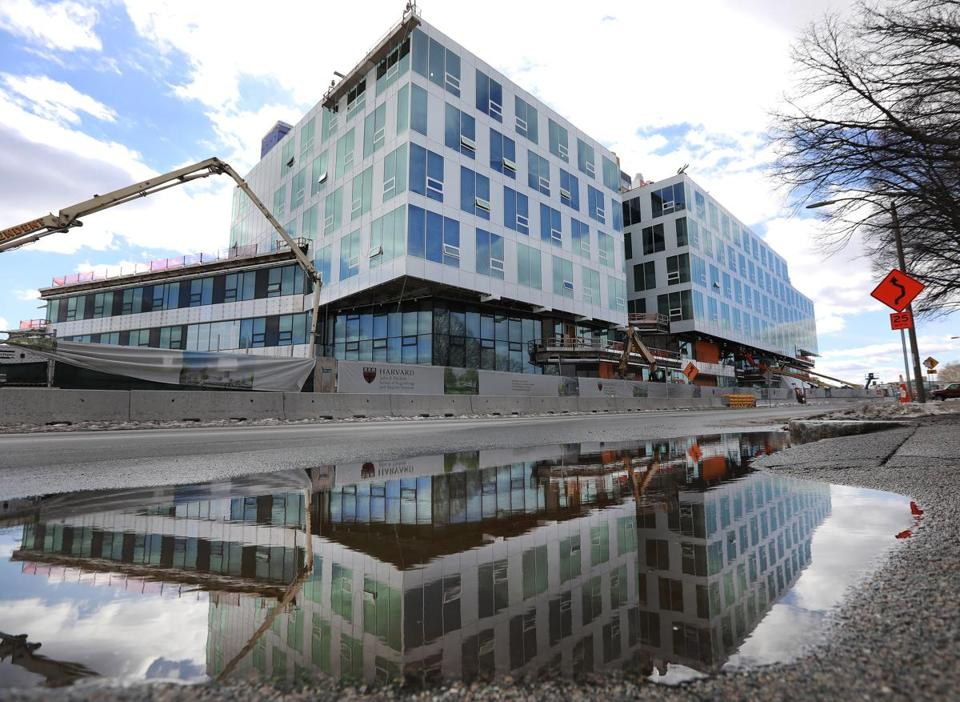 Harvard's School of Engineering and Applied Sciences is under construction on Western Avenue in Allston.