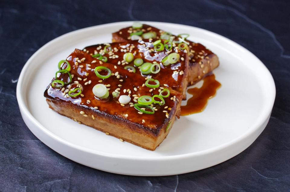 Recipe: Serve seared and braised tofu steaks with a deeply flavorful 5-spice sauce