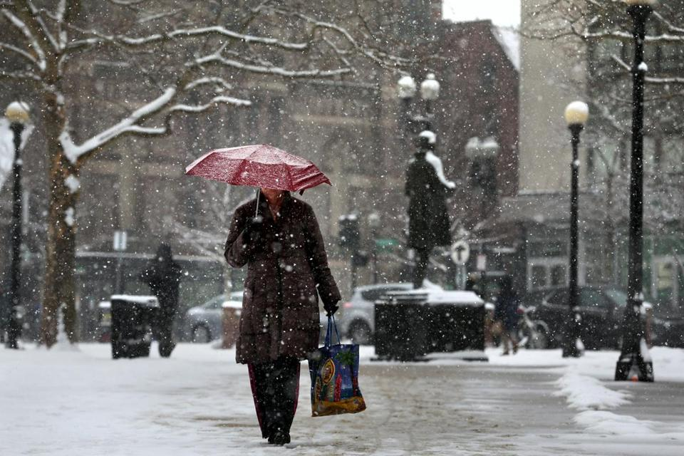 Greater Boston Area Being Hit Hard By Winter Storm The
