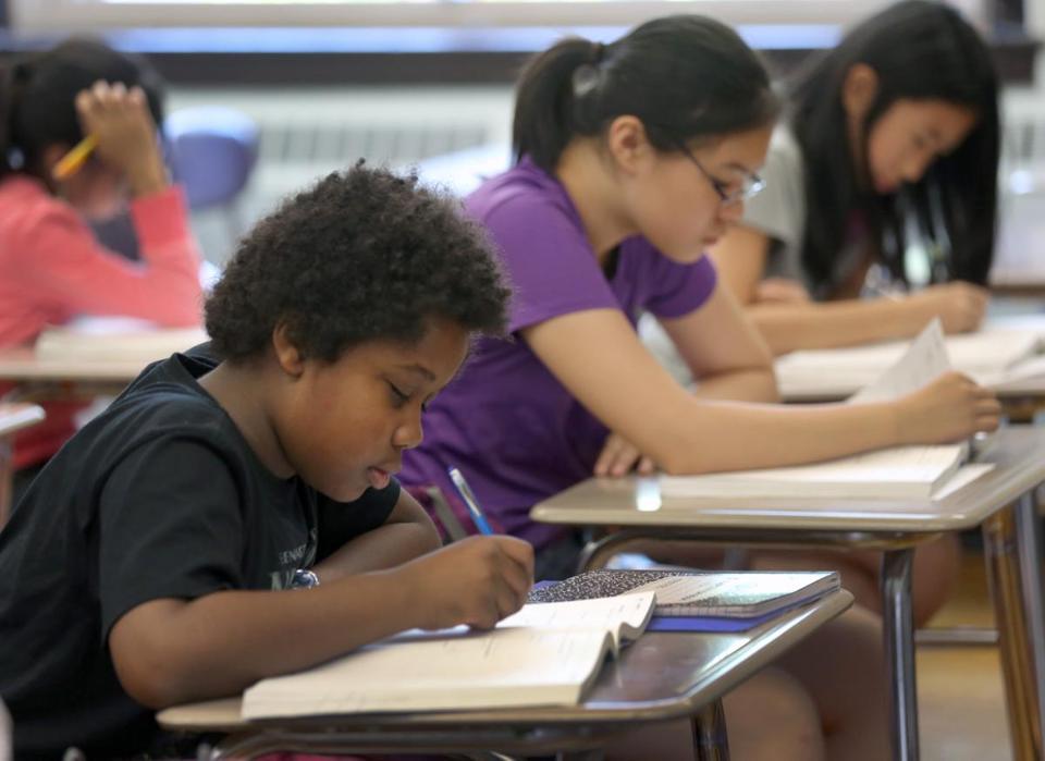 Students at Boston Latin