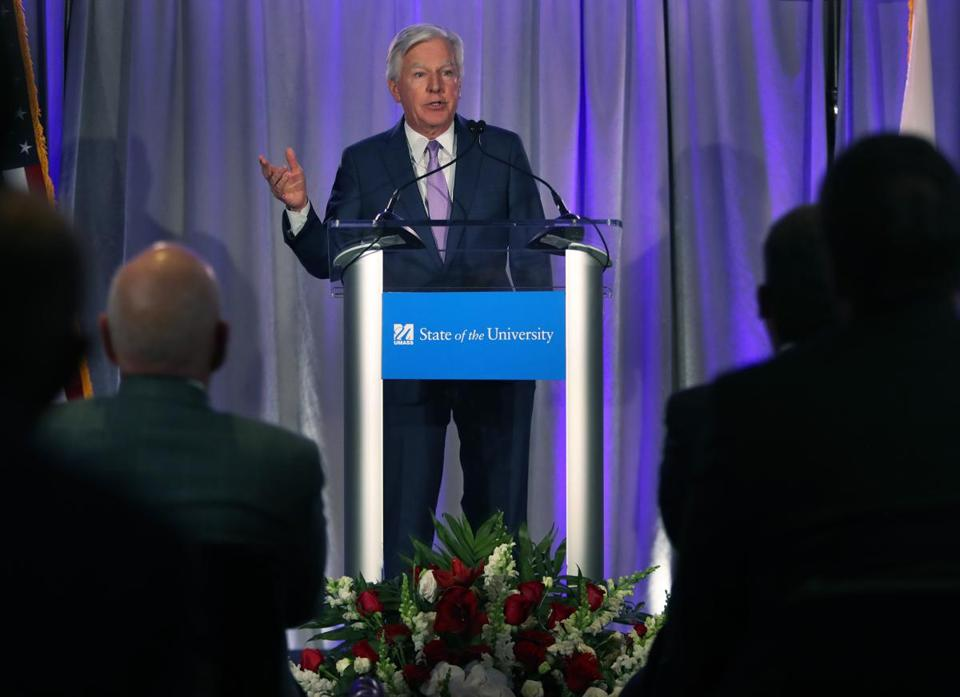 UMass president Martin T. Meehan hopes the system's new online initiative  will help ensure UMass's
