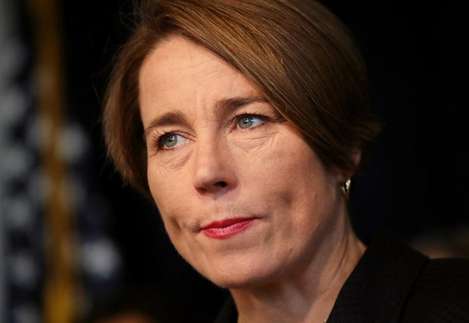 BOSTON, MA - March 13, 2019: - Massachusetts Attorney General Maura Healey speaks during a press conference at the Massachusetts Attorney General's office in Boston MA on March 13, 2019. She addressed a series of investigations by her office into care at Massachusetts nursing home facilities that uncovered systemic failures. (Craig F. Walker/Globe Staff) section: Metro reporter: