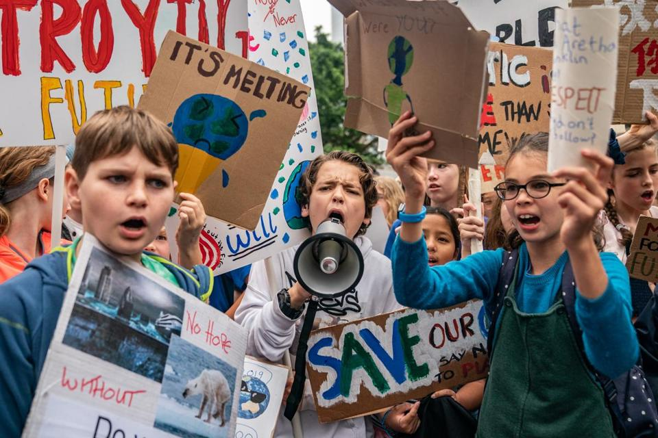 Students stage global protest to speak out on climate change inaction
