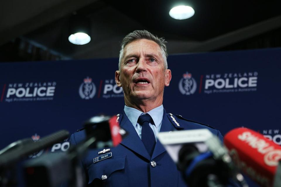 Police Commissioner Mike Bush spoke to media during a press conference at Royal Society Te Aparangi on March 15 in Wellington, New Zealand.