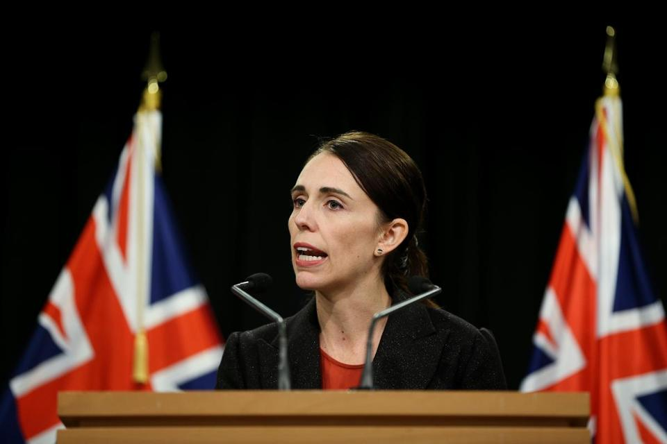 Prime Minister Jacinda Ardern spoke to media during a press conference on March 15 in Wellington, New Zealand, following shootings at two mosques in Christchurch.
