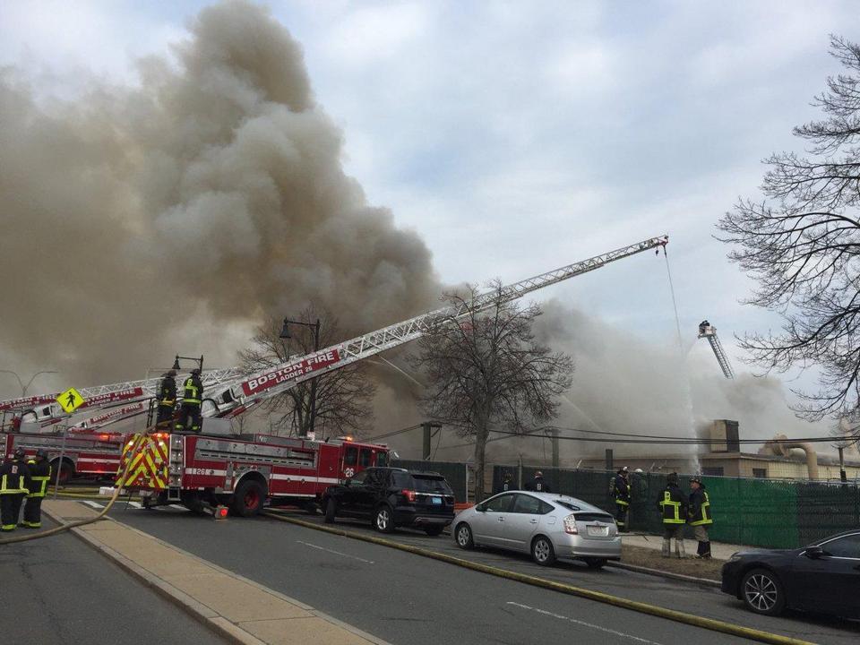 Evacuations Underway In East Boston As 8 Alarm Fire Rages