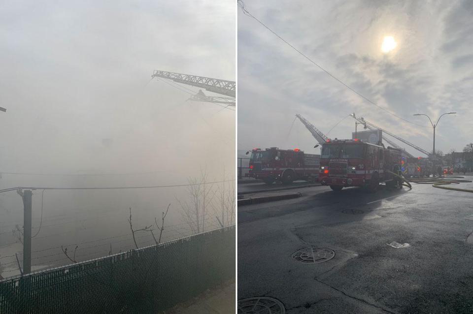 100 Firefighters Battling 8 Alarm Blaze At East Boston