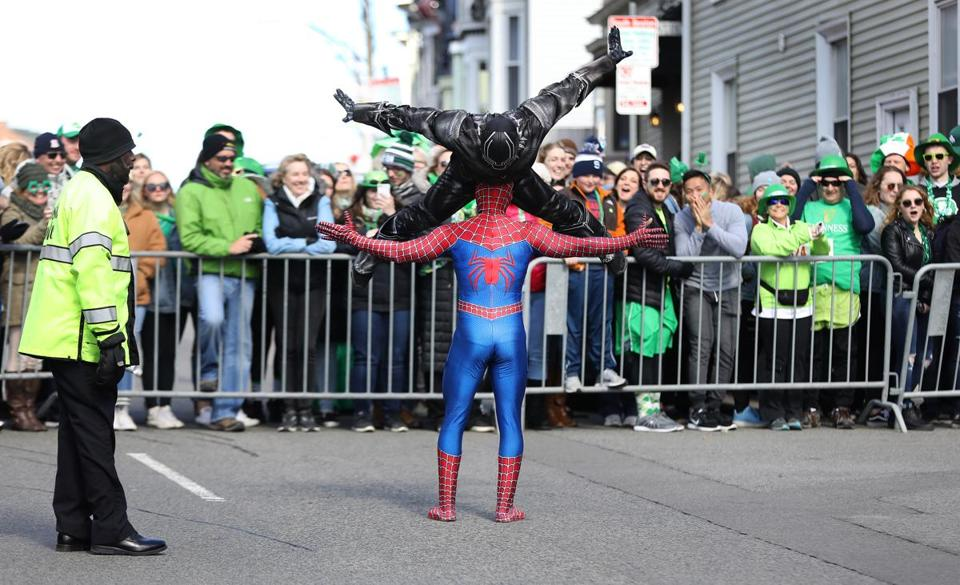 Costumed superheroes wowed the crowd on Dorchester Street.
