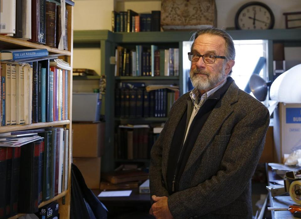 Gloucester, MA, 03/20/2019 -- Greg Gibson, whose son Galen was killed in his college library in 1992 poses for a portrait at his home in Gloucester. Gibson has been working with his son's imprisoned killer to spread the message that guns are too easy for disturbed people to get. (Jessica Rinaldi/Globe Staff) Topic: 21nestorgibson Reporter: